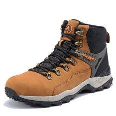 ราคา Aquatwo รองเท้าหนังแท้ กันน้ำอย่างดี สำหรับลุยป่า ปีนเขา รุ่นS937 สีน้ำตาลอ่อน ใหม่