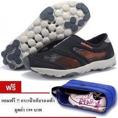 Aquatwo รองเท้าลุยน้ำ เล่นน้ำตก ดำน้ำ รุ่น S503 สีดำ แถมฟรี กระเป๋าเก็บรองเท้า มูลค่า 159 บาท เป็นต้นฉบับ