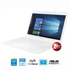 โปรโมชั่น Asus X441Sa Wx077D Intel Celeron N3060 4Gb 500Gb Uma Dos White Texture Asus