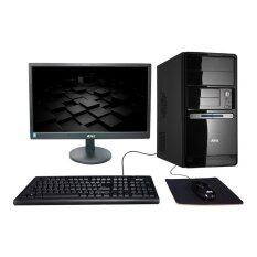 "ATEC PC PIONEER G1840  Intel G1840 RAM 4GB (Black) พร้อม LCD Monitor 19.5"" (Black)"