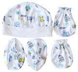 ราคา Attoon ชุดหมวก ถุงมือ ถุงเท้า เด็กแรกเกิด ผ้า Cotton สีเขียว ราคาถูกที่สุด