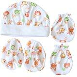 ราคา Attoon ชุดหมวก ถุงมือ ถุงเท้า เด็กแรกเกิด ผ้า Cotton สีส้ม ใหม่