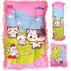 Attoon ชุดที่นอน ลายแคตตี้ หมอน + หมอนข้าง (สีชมพู).