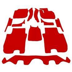 ซื้อ Auto Cover พรมรถยนต์ All New Honda Jazz 2014 2018 พรมกระดุม Super Save ชุด Full 12 ชิ้น สีแดง ถูก ใน ไทย