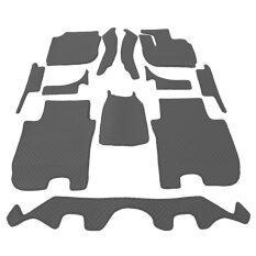 Auto Cover พรมรถยนต์ All New Honda Jazz 2014 2018 พรมกระดุม Super Save ชุด Full 12 ชิ้น สีเทา Auto Cover ถูก ใน ไทย