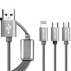 ราคา Awei รุ่น Cl 970 1M 3 In 1 Fast Multi Charging Cable 120Cm สีเงิน Awei ใหม่