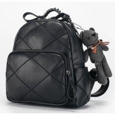 ขาย Axixi กระเป๋าเป้แฟชั่น Teddy Bag สีดำ Axixi เป็นต้นฉบับ