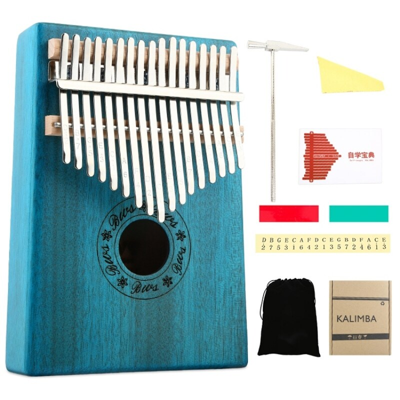 17 Keys Kalimba Mahogany Thumb Piano Musical Instruments Mbira Kalimba with Learning Book Tune Hammer Malaysia