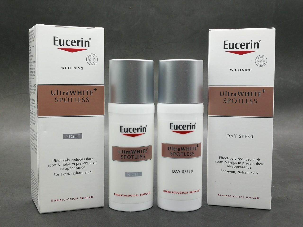 [054] Eucerin Ultrawhite+ Spotless Day Fluid Spf30 / Night Fluid 50ml.
