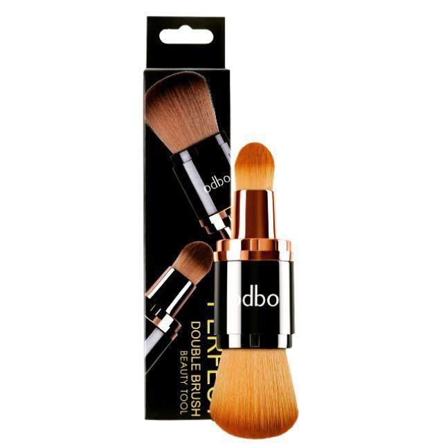 โอดีบีโอ แปรงแต่งหน้า หัวแปรง2ด้าน ขนแปรงนุ่ม ไม่บาดหน้า Odbo Perfect Double Brush Beauty Tool (OD8-136) โอดีบีโอ เพอร์เฟค ดับเบิล บรัช บิวตี้ ทูล