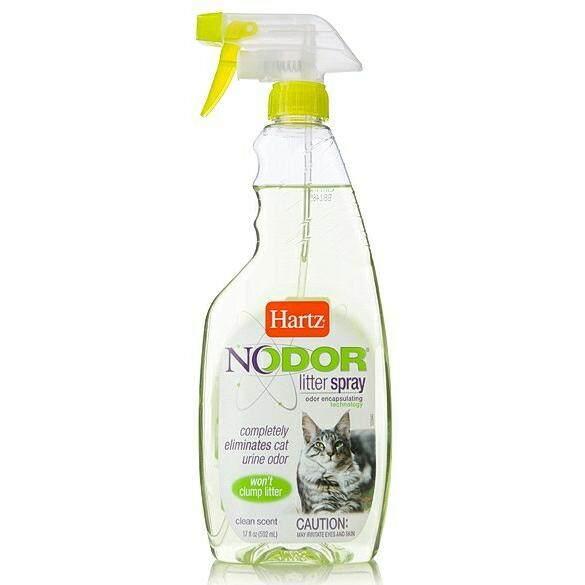 Nodour สเปรย์ดับกลิ่นทรายแมว โนดอร์ น้ำเขียว 1ขวด.