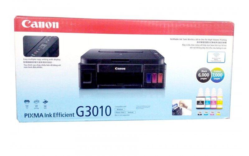 เครื่องปริ้น Canon Pixma G3010 Printer All In One Ink Tank Wifi (พร้อมหมึกแท้จากcanon สีละ1ขวด).