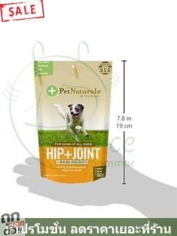 บำรุงสะโพก น้ำในข้อ ข้อเสื่อม ข้อต่อ กระดูก หมา สุนัข เสริม ขนม อาหาร แท้  100% Dogs Pet Naturals of Vermont Hip Joint