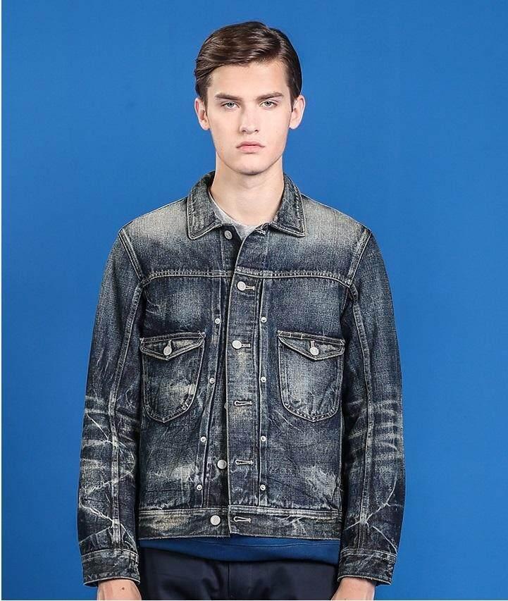 2019 แจ็คเก็ตยีนส์แฟชั่นผู้ชาย / 2019 Mens Fashion Denim Jacket 100% Cotton Korakublue®-500rw By Trend Salon.