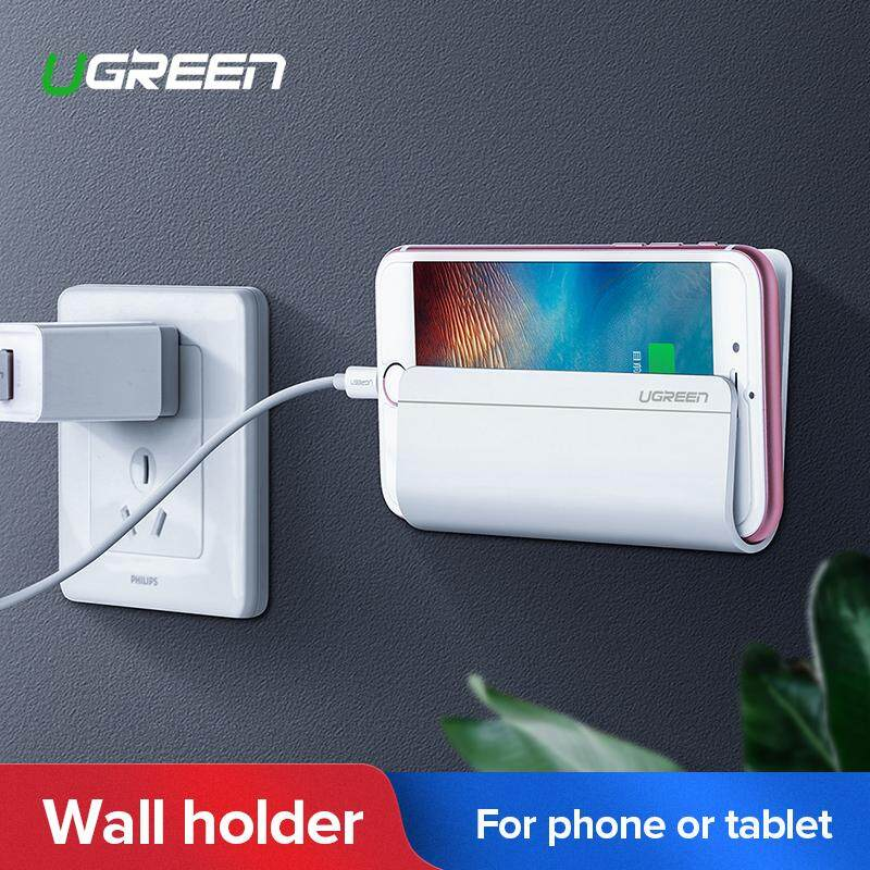 Ugreen Wall Mount Mobile Phone Holder Tablet Holder With Adhesive Strips,  Charging Holder For Huawei, Iphone, Ipad, Honor, Xiaomi Redmi, Lg, Nokia