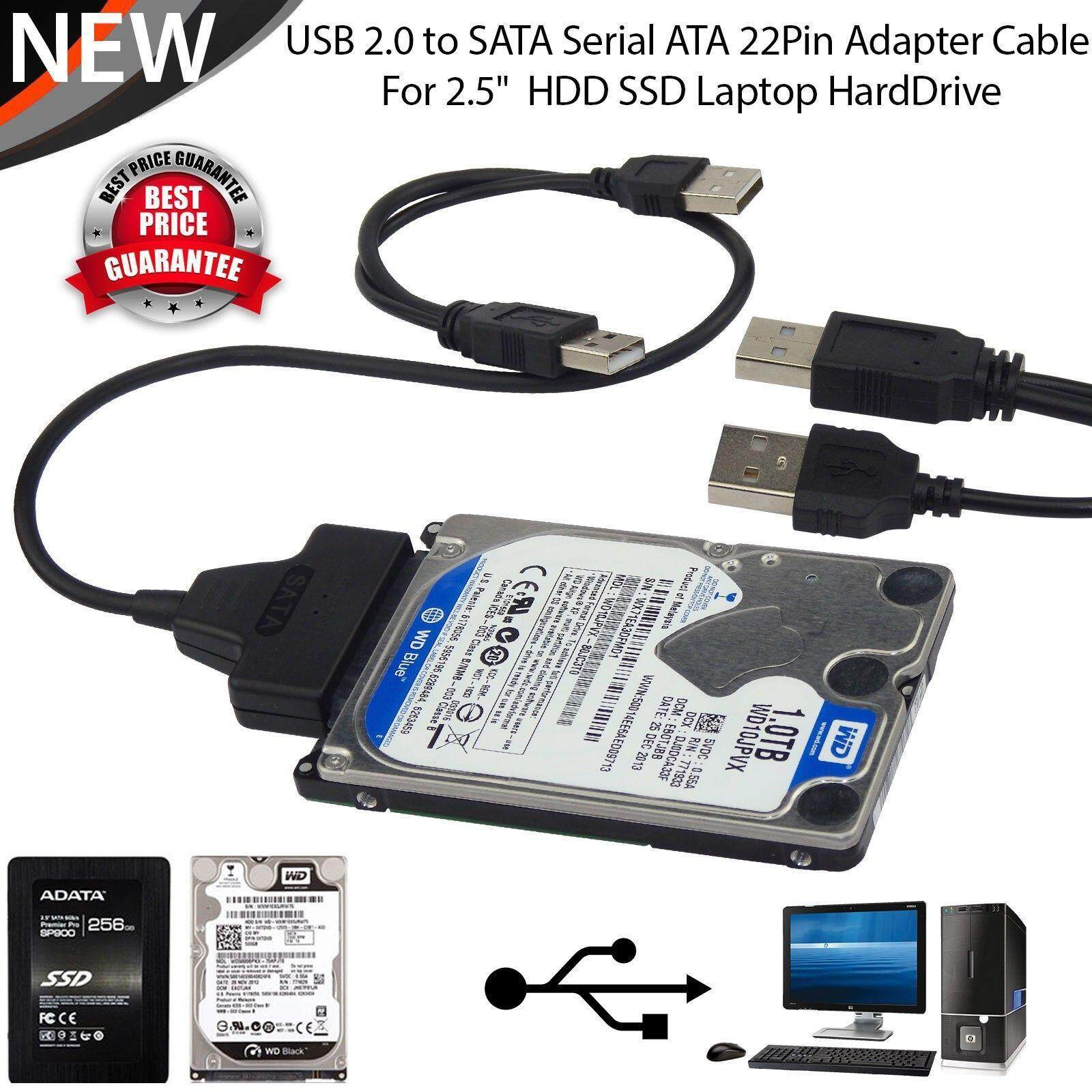 New USB 2.0 to 2.5 inch SATA Hard Drive Adapter Cable UASP SATA to USB Converter