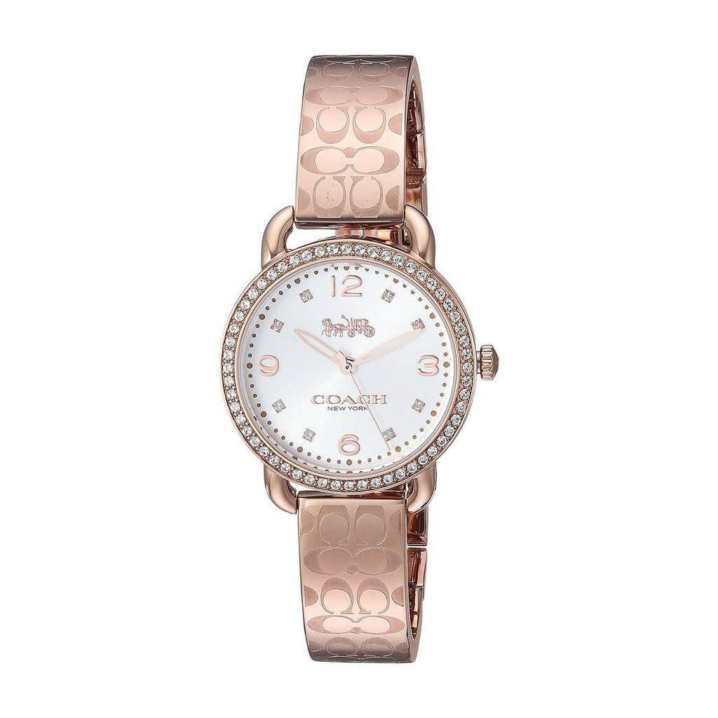 800df1c45e9 Original Coach Watch Delancey Rose Gold Stainless-Steel Bracelet Ladies  14502767