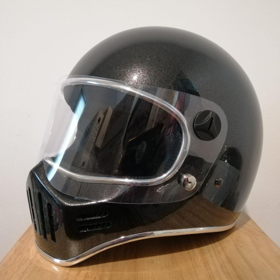 หมวกกันน็อคเต็มใบ สีเทาบรอนดำ Model Ct3 Full Face By Jtm Riders.