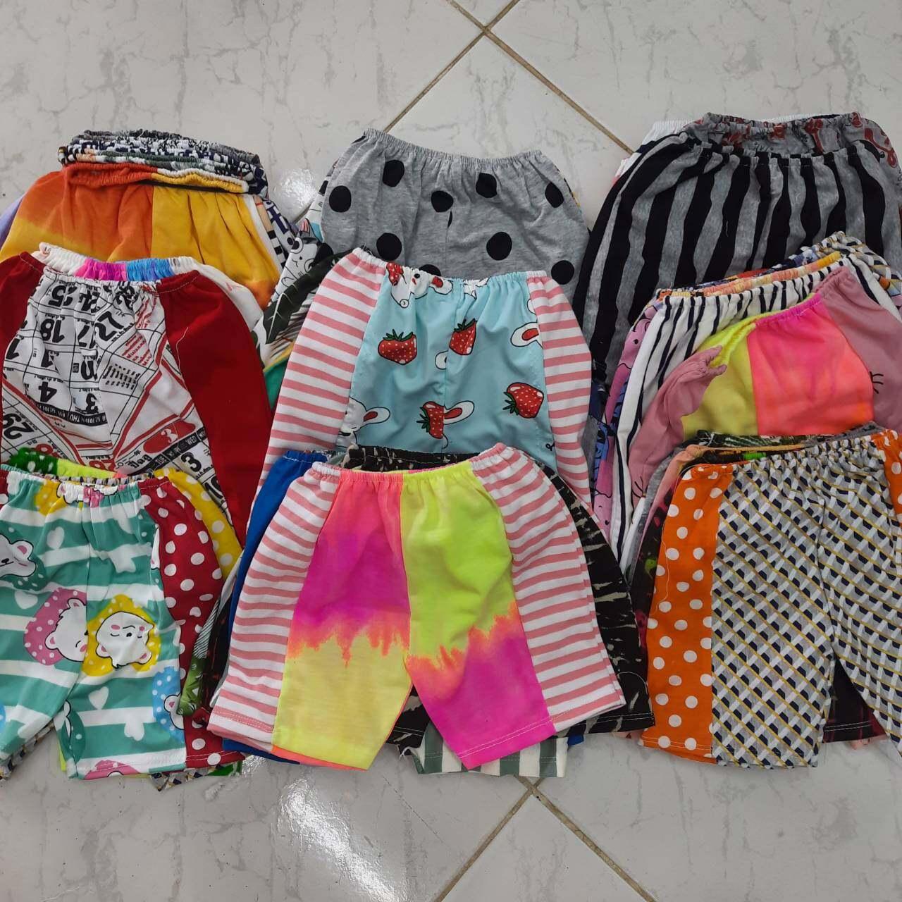 กางเกงขาสั้นเด็กเล็กอายุ 3-12 เดือน 10โลตัวละ10บาท.