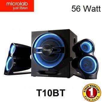 Microlab รุ่น T10ฺBT ลำโพงซับ 2.1 มีบลูทูธ สวย เสียงดี กำลังขับรวม 56 วัตต์ รับประกันศูนยไทย  1 ปี