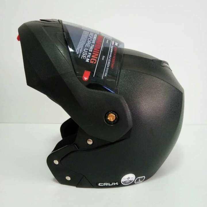 AVEX หมวกกันน็อคเต็มใบ รุ่น CRUX สามมารถเปิดคางได้ สีดำด้าน ชิลดำ นวมภายในถอดซักได้