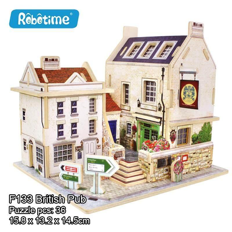 British Pub โมเดลบ้านไม้สไตล์อังกฤษ By Puzzly Craft.