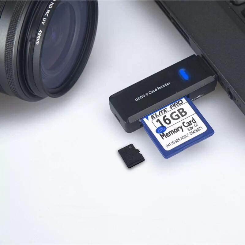 เครื่องอ่านการ์ด การ์ดรีดเดอร์ การ์ดหน่วยความจำสำหรับ Micro Usb 3.0 Sd Card Reader, Universal 3 Port External Multi High Speed Memory Card Reader With Sdhc / T-Flash(tf) / Ms Duo / M2 Port For Pc Laptop Mac(white).