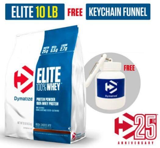 Dymatize Elite Whey 10lb Chocolate Free พวงกุญแจ