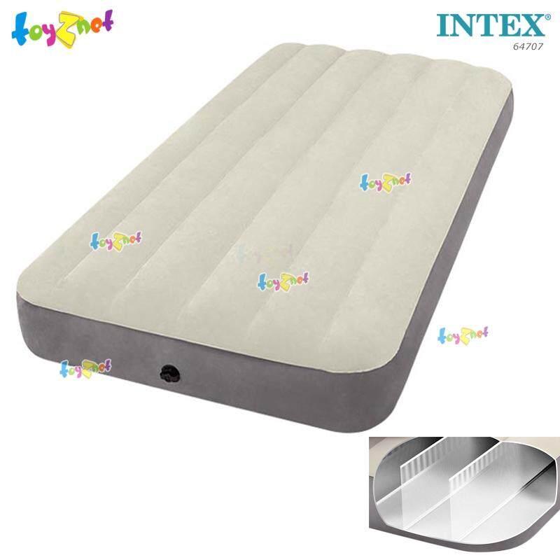 """Intex ส่งฟรี ที่นอนเป่าลม ดูรา-บีม ไฟเบอร์-เทค """"โครงสร้างใหม่ นอนสบายขึ้น"""