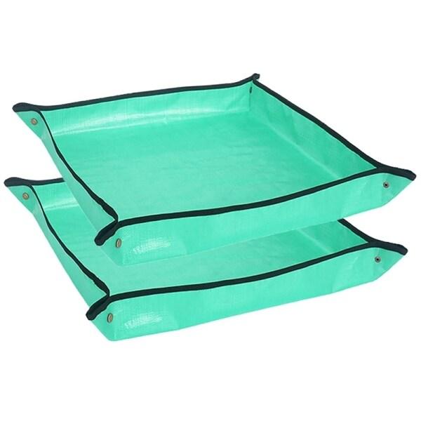 2PCS Plant Transplanting Repotting Mat Foldable Garden Work Cloth Waterproof Gardening Mat Change Soil Watering Pads