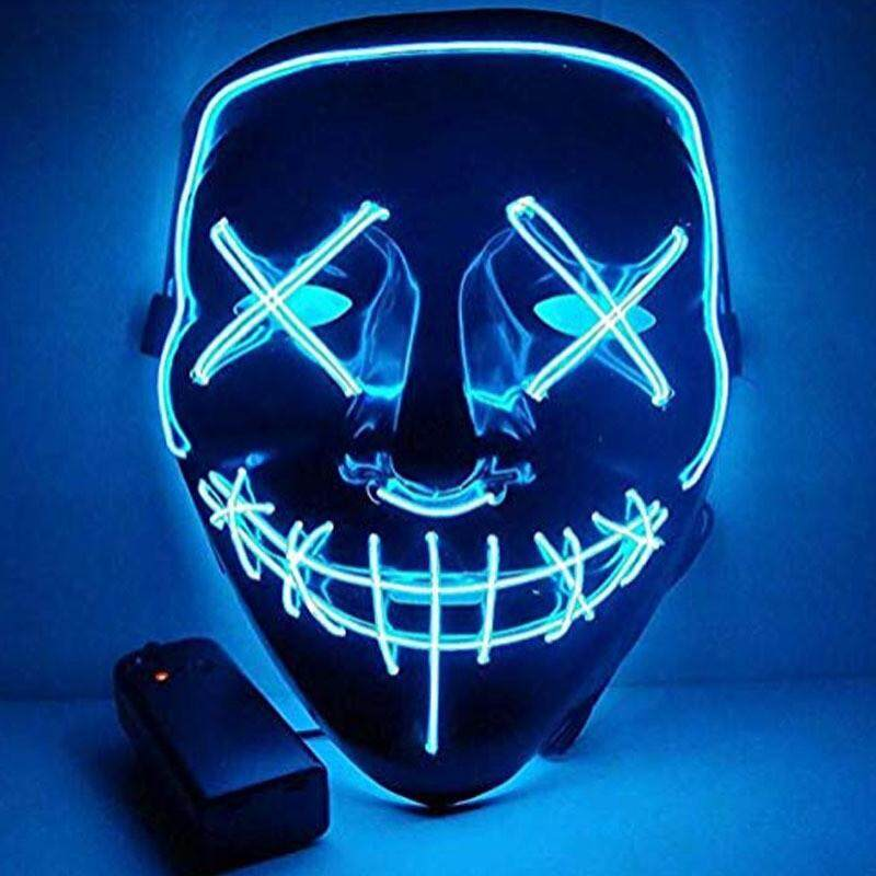 Cosplay Halloween Mask Led Light Up Purge Election Year Great Festivals Costumes