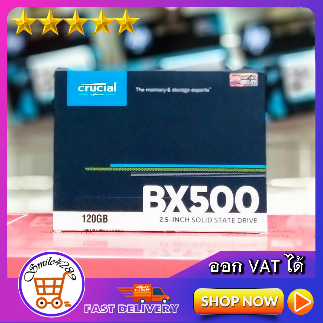 120 Gb Ssd Sata Crucial (bx500) 2.5 Inch Solid State Drive 3year By Ingram.