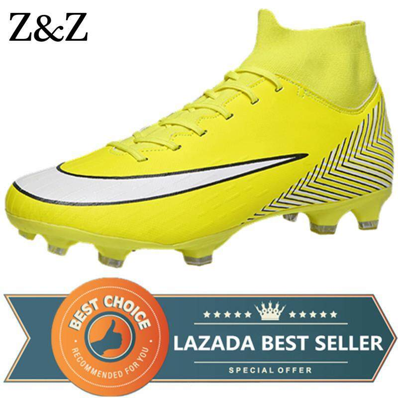 6ede5c4e Z&Z Men's Outdoor Soccer Cleats Shoes High Top TF/FG Football Boots  Training Sports Sneakers Shoes Plus Size 38-45