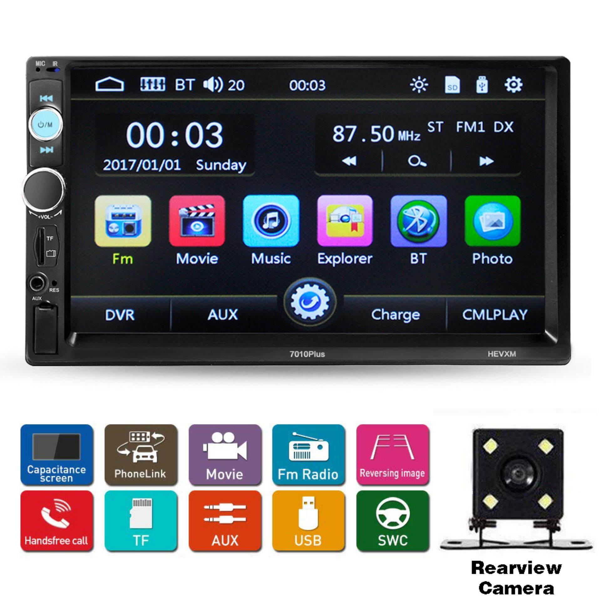 """7/"""" inch 2 Din Touch Screen Mp5 MP3 Player Bluetooth Car Stereo Radio USB Camera"""