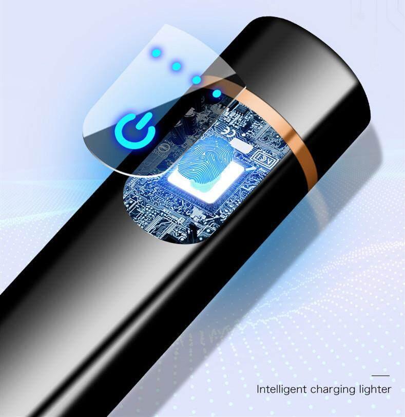 ไฟแช็คไฟฟ้า - USB Lighter - กลมสีดำ