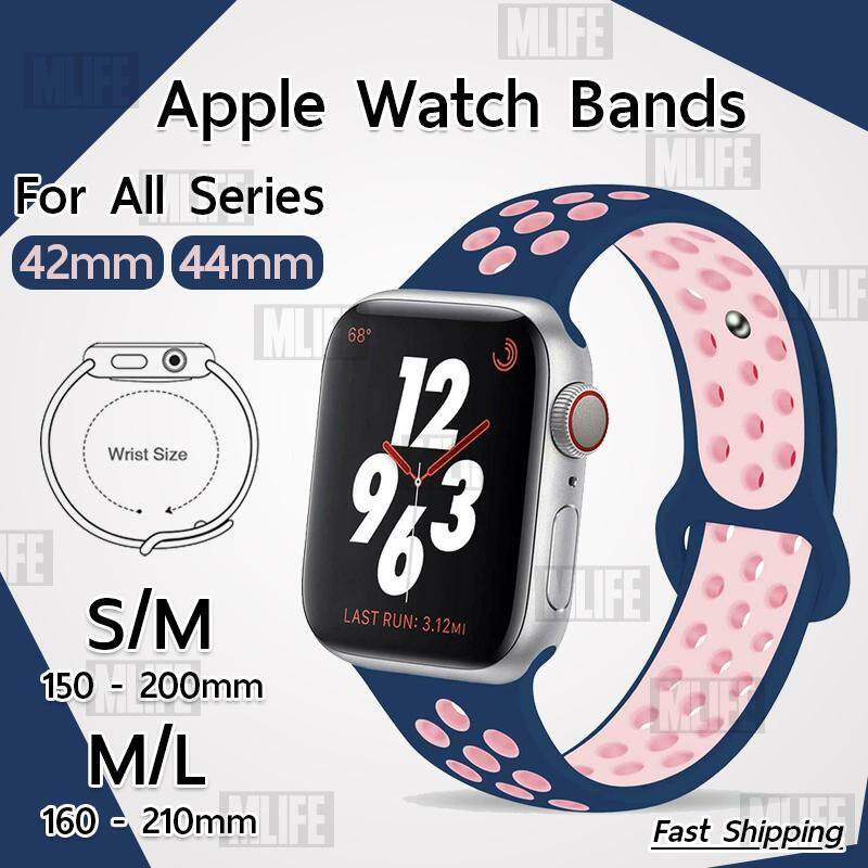 สาย Nike Sport สำหรับ นาฬิกา Apple Watch ทุกซีรีย์ 42mm 44mm - สายนาฬิกา Replacement Silicone Nike Sport Band for Apple Watch Series 5 4 3 2 1 42mm. 44mm. S/M M/L