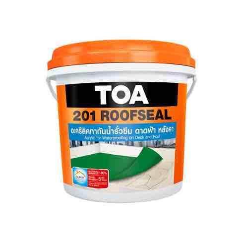 ทีโอเอ 201 รูฟซีล อะคริลิก กันซึม TOA ROOF SEAL ขนาด 4กก. มีหลายสี