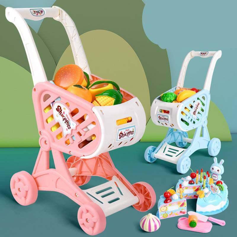 รถเข็นช็อปปิ้ง รถเข็นเด็ก รถเข็นช้อปปิ้งเด็ก รถเข็นซุปเปอร์มาร์เก็ต ของเล่นเด็ก บทบาทสมมุติ.