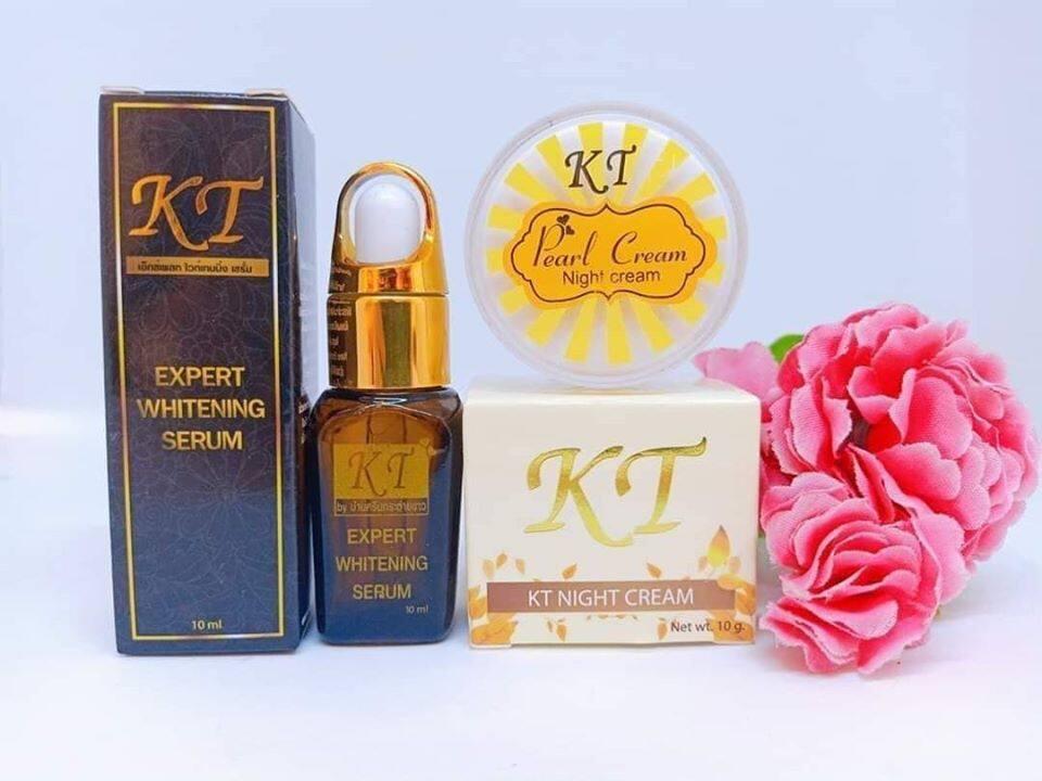 ( เซต 2 ชิ้น ) เซรั่มKT + ไนท์ครีมKT รับประกันของแท้100% ส่งเคอรี่ KT Cream ครีมรักษาสิว ครีมรักษาฝ้า ครีมบำรุงหน้าขาวใส รักษา สิว ฝ้า กระ จุดด่างดำ หน้าหมองคล้ำ กระชับรูขุมขน ktcream creamkt ครีมkt ktครีม ครีมเคที เคทีครีม บาย by บ้านครีมกระต่ายขา tk