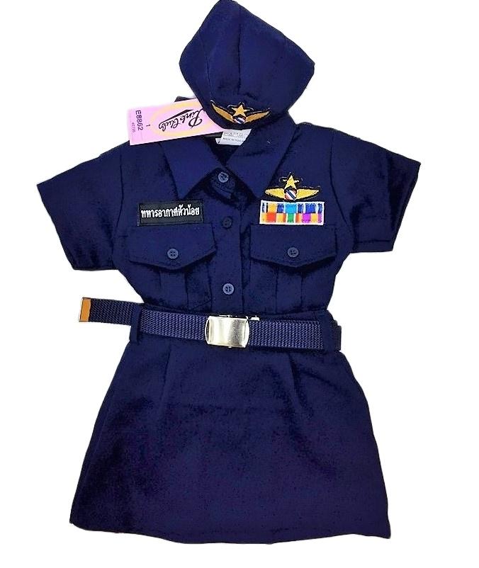 ซื้อที่ไหน mactches fashion shop ชุดทหารอากาศแฟชั่นของเด็กหญิง เครื่องแบบครบ เหมาะสำหรับเด็กวัย 1-5 ปี