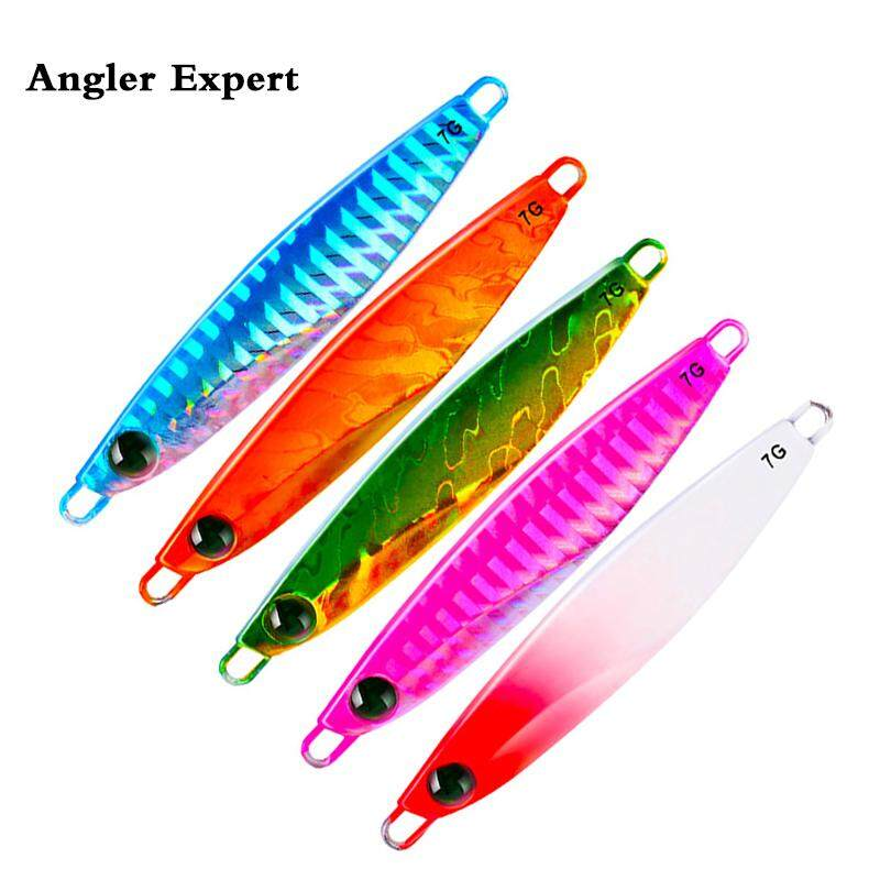 5PCS Sea Fishing Lure Jigging 7g 10g 14g 17g 21g Hard Lead Baits Spoon Fishing Tackle