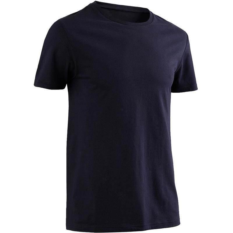 เสื้อยืดกายบริหารทั่วไปและพิลาทิสทรงมาตรฐานรุ่น 100 Sportee (สีกรมท่า) By Thirty Oneshop.