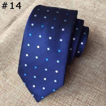 2017 Casual Men's อย่างเป็นทางการโรงเรียน Tie ตรวจสอบอ่อนเยาว์โพลีเอสเตอร์ผ้าไหม Neckties สำหรับงานแต่งงานงานแต่งงานเหล้าองุ่น (Multicolor) - INTL