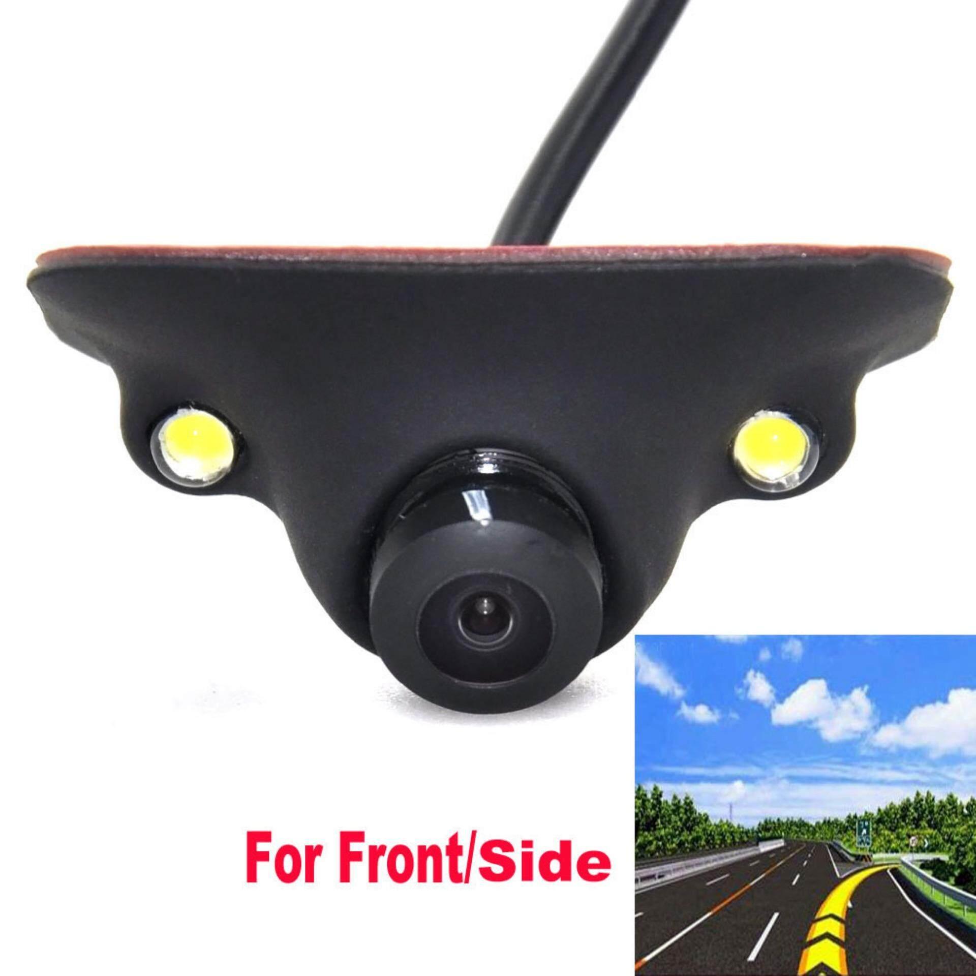 ที่จอดรถ Led กันน้ำ 360 องศาด้านหน้ามุมมองด้านหลังกลับการมองเห็นได้ในเวลากลางคืน Universal Ccd Hd ด้านข้างกล้องสำหรับรถยนต์.