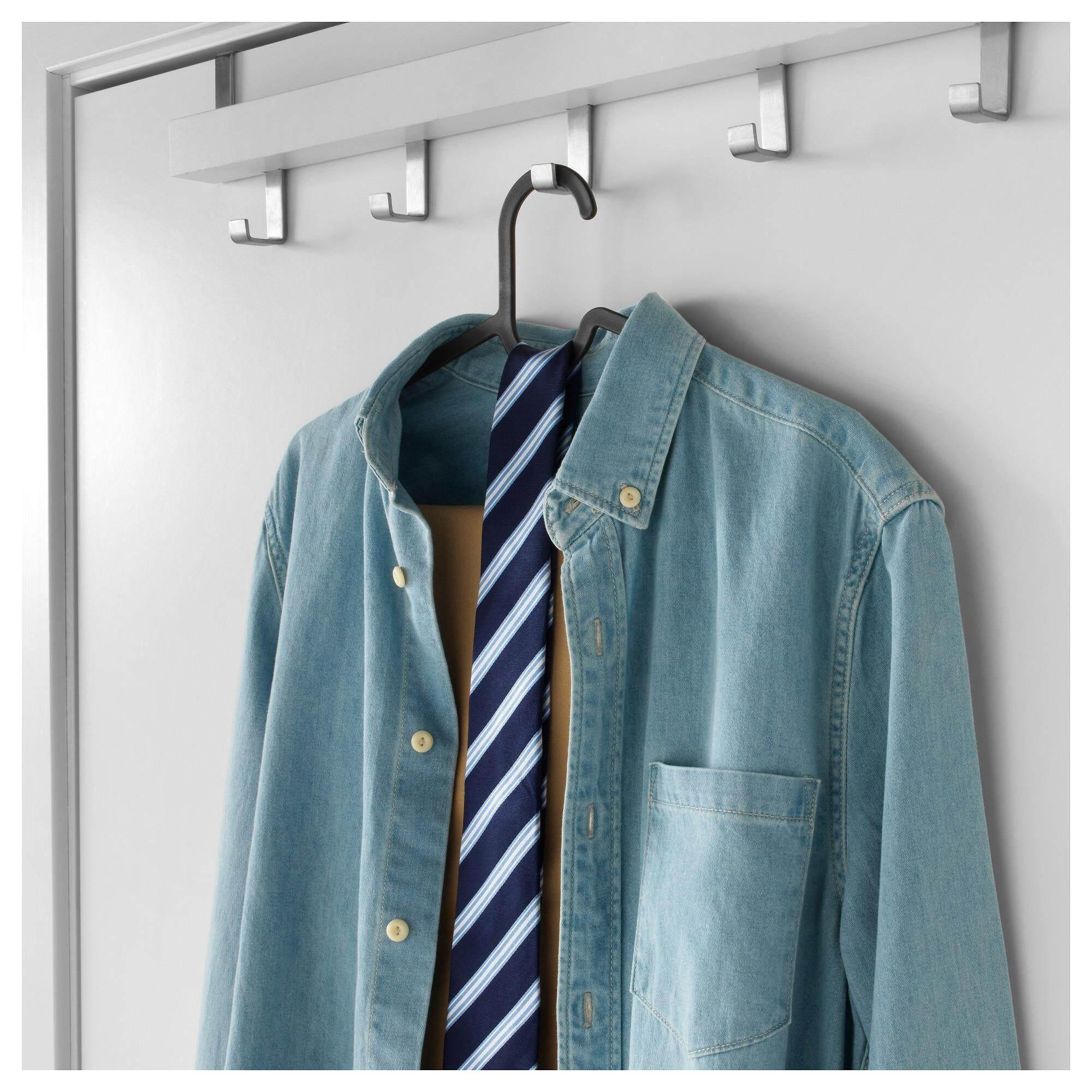 Spruttig สปรุตติก ไม้แขวนเสื้อ ดำ ใช้แขวนได้ทั้งกางเกง กระโปรง By Vvs.