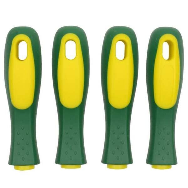 8 Pack Ergonomic Rubber File Handle for File or Mills, Round Hole and Rectangular Hole, 4-1/3Inch Length
