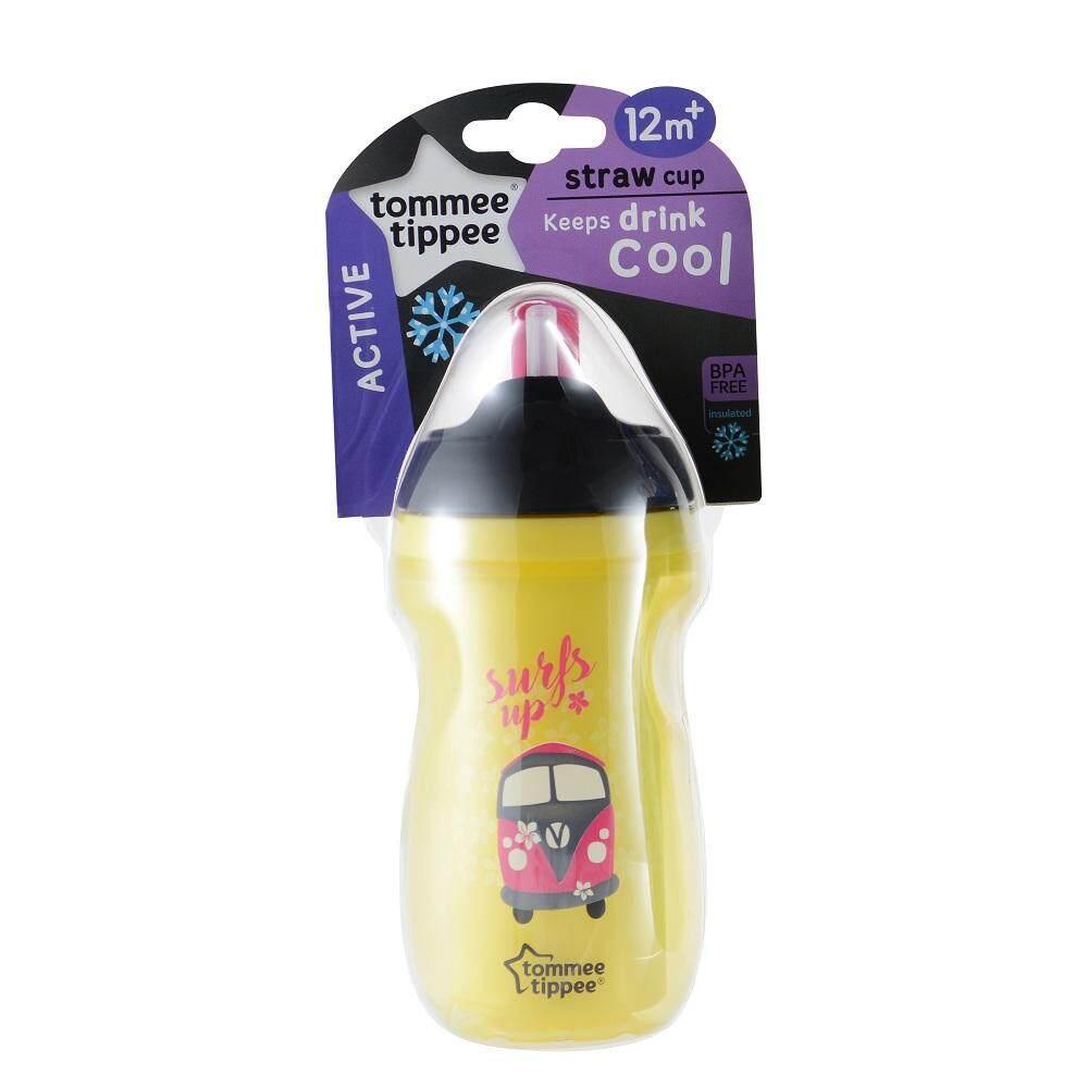 ซื้อที่ไหน Tommee Tippee Insulated Straw Cup ทอมมี่ ทิปปี้ ถ้วยหัดดื่มแบบหลอด 9 oz