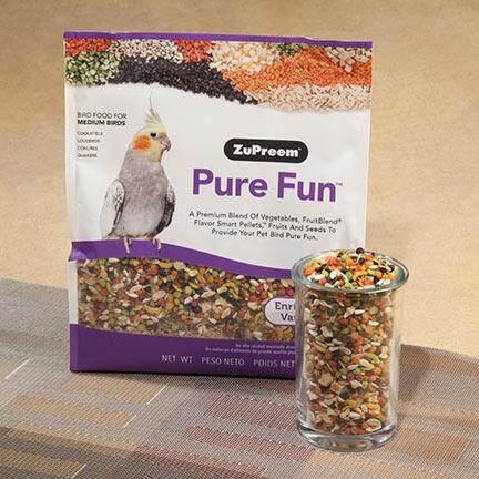Image 3 for ซูพรีม Pure Fun สูตรผลไม้+ผัก+เมล็ดธัญพืช สำหรับนกกลาง ค๊อกคาเทล เลิฟเบิร์ด คอนนัวร์ (2lb/907g)