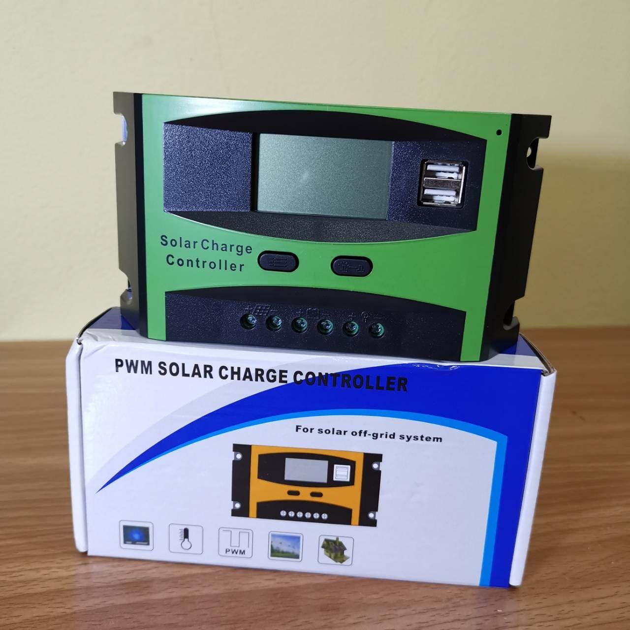 โซล่าร์ชาร์จเจอร์ PWM 30A คอนโทรลเลอร์การชาร์จ 12v24v solar charge controller สำหรับใช้ชาร์จไฟแบตเตอรี่จากแผงโซล่าร์เซลล์ในระบบ 12v-24v LCD Display USB x 2 ช่อง