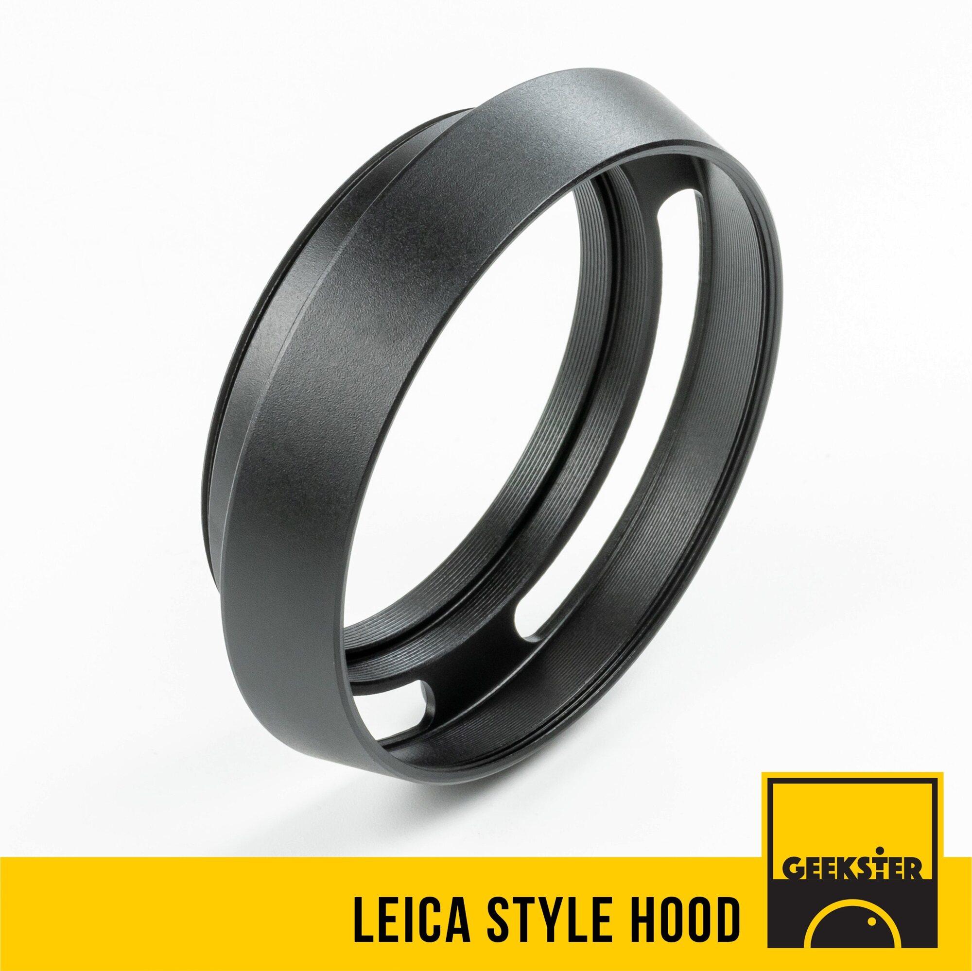 Hood เหล็กทรงไลก้า 37mm / 39mm / 40.5mm / 43mm / 46mm / 49mm / 52mm / 55mm / 58mm ( สำหรับ บังแสง ) ( แสงจ้า ) ( 37 Mm / 40.5 Mm / 43 Mm / 46 Mm / 49 Mm / 52 Mm / 55 Mm / 58 Mm ) ( Geekster ).